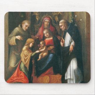 La boda mística del santo Catherine Tapete De Raton