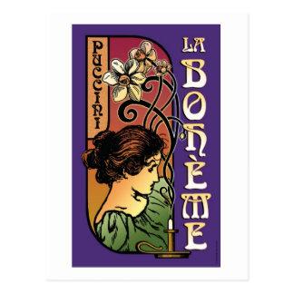 La Boheme, Opera Postcard