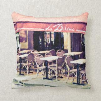 La Boheme Paris Cafe Throw Pillow Home Decor