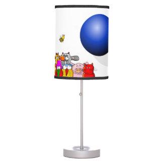 la bola azul lámpara de mesa