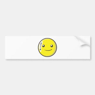La bola de billar sonriente numera uno etiqueta de parachoque