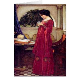 La bola de cristal, J.W. Waterhouse, 1902 Felicitacion