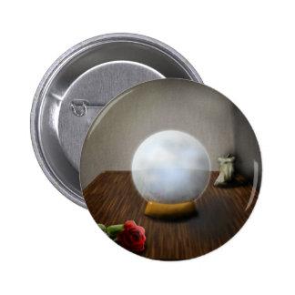 La bola de cristal pin redondo 5 cm