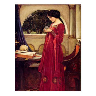 """La bola de cristal"" por John William Waterhouse Postales"