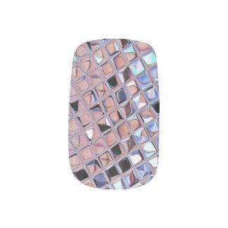 La bola de discoteca de la plata metalizada arte para uñas