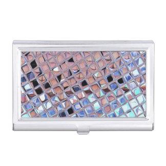 La bola de discoteca de la plata metalizada caja de tarjetas de negocios