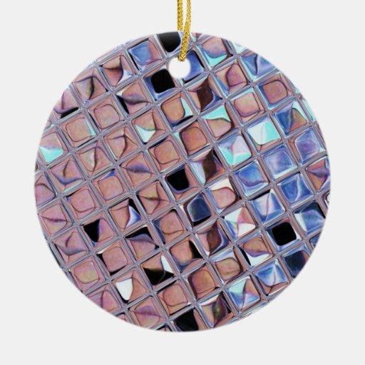 La bola de discoteca de la plata metalizada reflej ornaments para arbol de navidad
