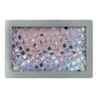 La bola de discoteca de la plata metalizada reflej hebilla de cinturon rectangular