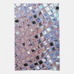 La bola de discoteca de la plata metalizada reflej toallas