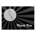 La bola de discoteca de plata le agradece observar tarjetón
