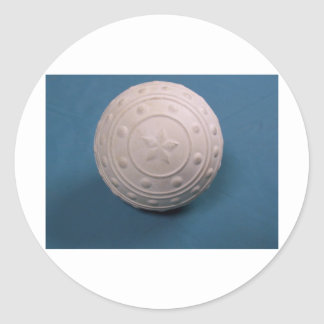 La bola de la espinilla pegatina redonda