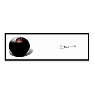 """La bola de la magia 8 dice, """"FO Shizzle """" Tarjetas De Visita"""