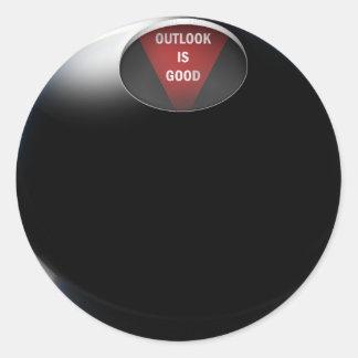 La bola de la magia 8 dice la perspectiva es bue pegatinas redondas