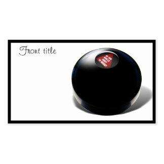 """¿La bola de la magia 8 dice, """"WTF? """" Plantilla De Tarjeta Personal"""
