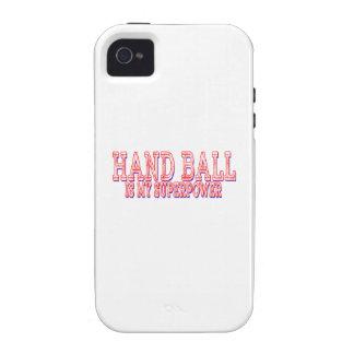 La bola de mano es mi superpotencia iPhone 4/4S carcasas
