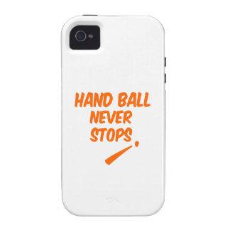 La bola de mano nunca para vibe iPhone 4 funda