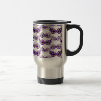 La bola de mascarada púrpura bonita enmascara taza térmica