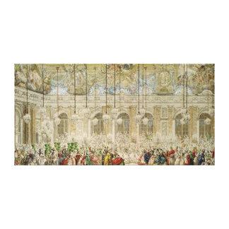 La bola enmascarada en el DES Glaces de Galerie Lienzo Envuelto Para Galerias