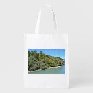 La bolsa con acogida bonita de paisaje bolsas para la compra