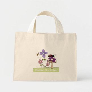 La bolsa de asas 2 del remiendo de la flor