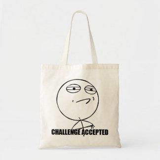 La bolsa de asas aceptada desafío