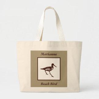 La bolsa de asas adaptable del pájaro de la playa