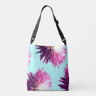 La bolsa de asas ajustable floral del contraste