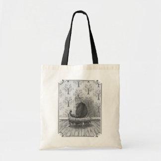 La bolsa de asas Alicia del gato de Cheshire en la