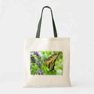 La bolsa de asas amarilla de la mariposa de Swallo