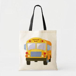 La bolsa de asas amarilla del autobús escolar