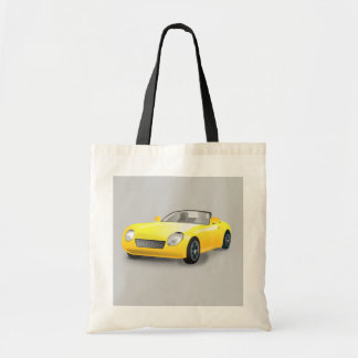 La bolsa de asas amarilla del coche