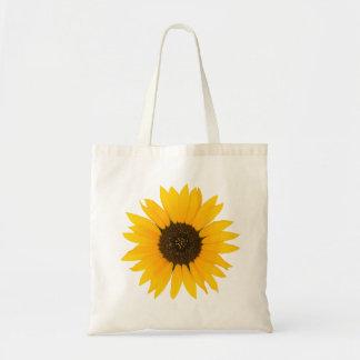 La bolsa de asas amarilla del girasol