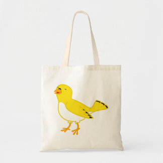La bolsa de asas amarilla del pájaro