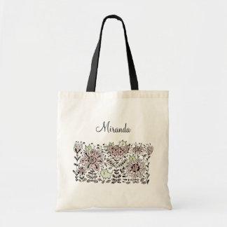 La bolsa de asas amistosa de los gatos de la flor