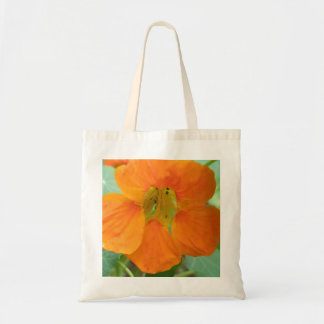 La bolsa de asas anaranjada bonita de la capuchina