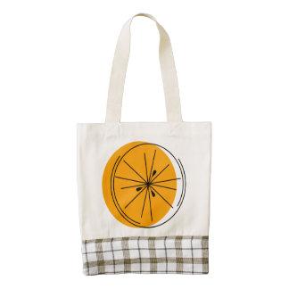 La bolsa de asas anaranjada del CORAZÓN de Zazzle Bolsa Tote Zazzle HEART