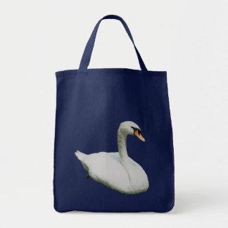 La bolsa de asas animal de la foto del cisne blanc
