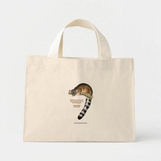 La bolsa de asas atada anillo del gato
