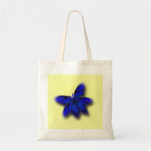 La bolsa de asas azul brillante abstracta de la ma
