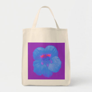 La bolsa de asas azul brillante del ultramarinos d
