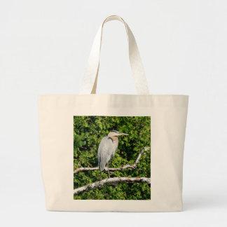 La bolsa de asas azul de la garza