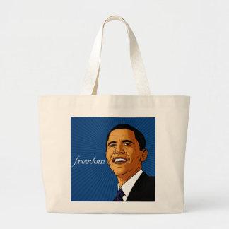 La bolsa de asas azul de la LIBERTAD de Obama