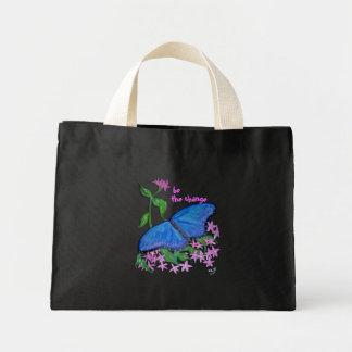 La bolsa de asas - azul de la mariposa