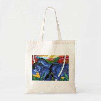 La bolsa de asas azul de los caballos de Franz Mar
