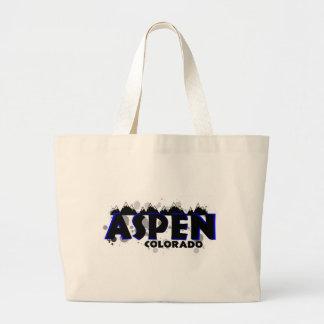 La bolsa de asas azul de neón de Aspen Colorado