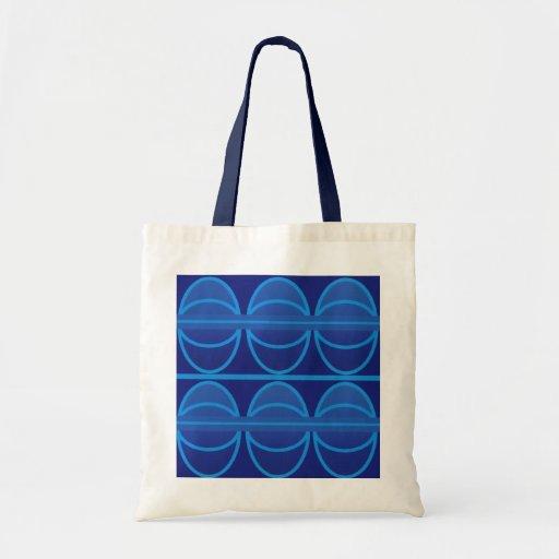 La bolsa de asas azul del art déco