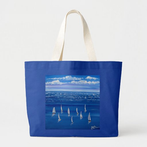 La bolsa de asas azul del arte popular de los vele