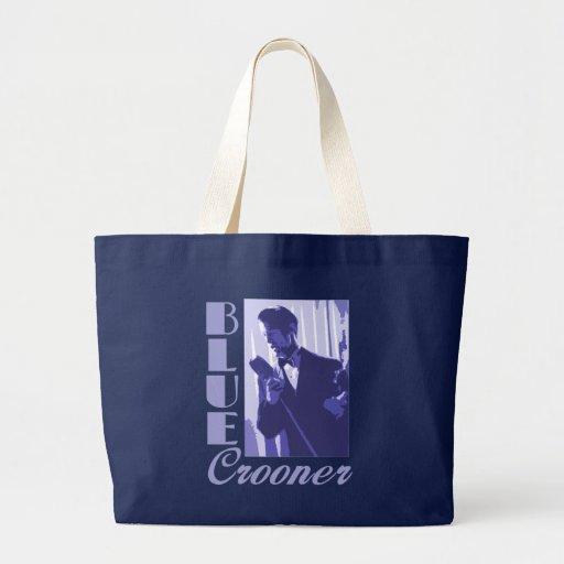 La bolsa de asas azul del cantante melódico