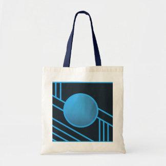 La bolsa de asas azul del círculo del art déco