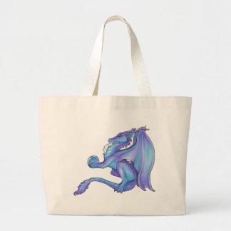 La bolsa de asas azul del dragón